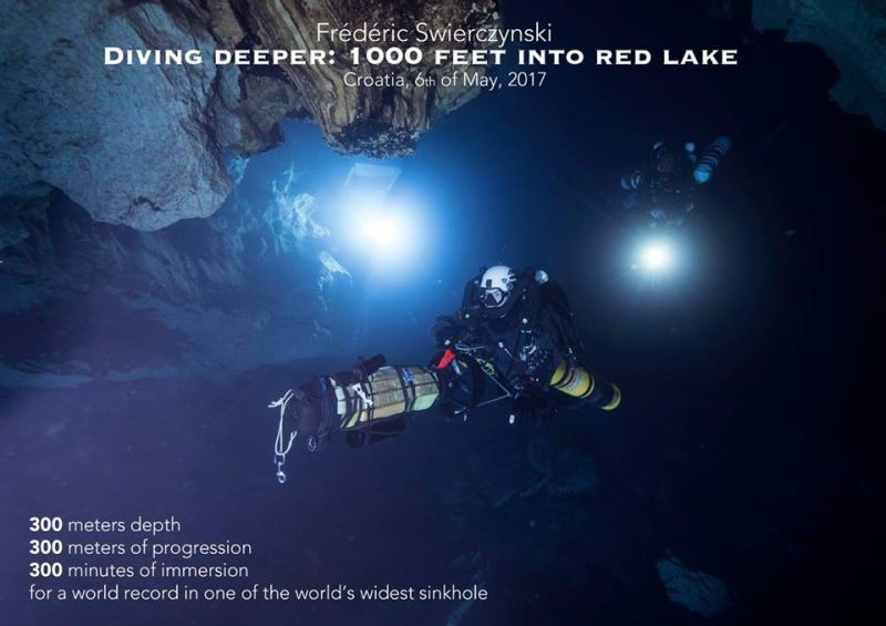 1000 feet into Red lake