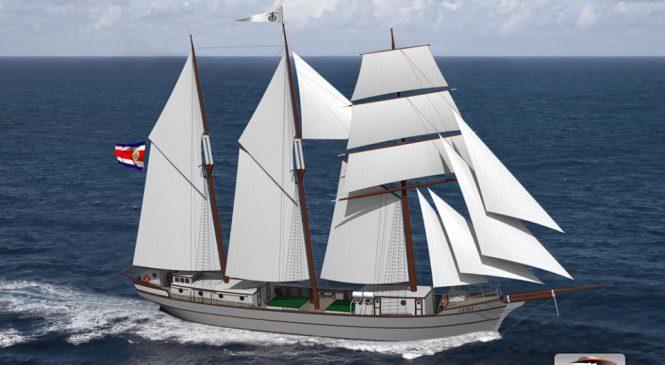 Ekološki drveni teretni jedrenjak