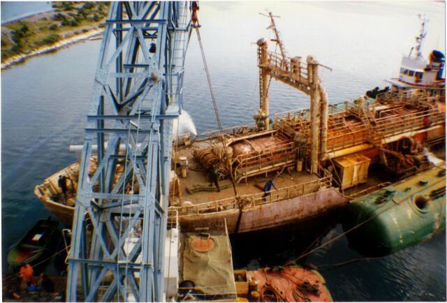 """Podizanje potopljenog LPG tankera """"Brigitta Montanari"""""""