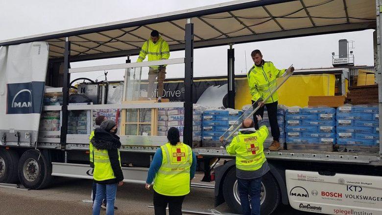 U bazu ronilaca stigao humanitarni konvoj  iz njemačke pokrajine Bayern za pomoć Banovini